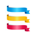set of colored arrow ribbons vector image vector image
