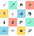 set of simple beauty icons