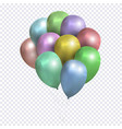sheaf colored balloons on transparent vector image vector image