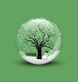 snow globe with christmas snowman vector image vector image