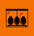 soccer players bench icon vector image vector image