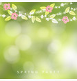 spring easter greeting card invitation string vector image vector image