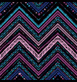 stripes bright tribal seamless pattern with zigzag vector image vector image
