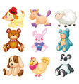 Stuffed animals vector image