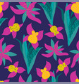 stylish vintage floral seamless pattern eps8 vector image vector image