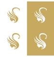 swane boutique logo vector image vector image