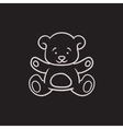Teddy bear sketch icon vector image