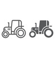 tractor line and glyph icon farm and agriculture vector image vector image
