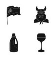 travel cleaning and or web icon in black style vector image vector image
