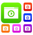 video player set collection vector image
