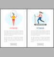 website cardio training women fitness vector image vector image
