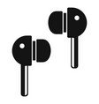 wireless earbuds icon simple style vector image vector image
