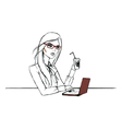 Working day of one nice woman vector image vector image