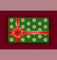 wrapped gift cards with festive ribbons and bows vector image vector image
