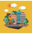 City Urban landscape flat vector image