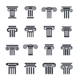 column icons 16 vector image