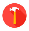 hammer circle icon vector image