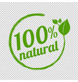 100 natural logo symbol transparent background vector image