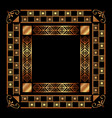 art deco frames and borders vector image vector image
