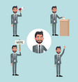 background scene set people bearded man in formal vector image vector image
