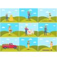 beekeeper and farming man vector image vector image