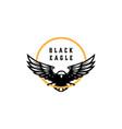 black eagle logo design vector image