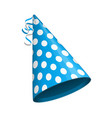 blue party hat vector image vector image