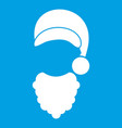 cap with pompon of santa claus and beard icon vector image vector image