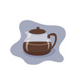 coffee pot flat vector image