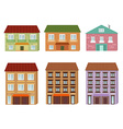 Collection of cartoon buildings vector image