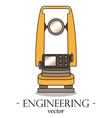color engineering logo of a theodolite vector image vector image