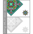 coloring book page for adults - flower paisley vector image