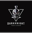 dark knight logo mascot vector image vector image
