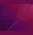 dark purple background with minimalist shapes vector image