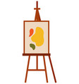 easel with abstract picture on a white isolated vector image