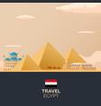 egypt travelling modern flat design vector image