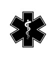 emergency medical symbol isolated medical sign vector image vector image