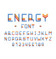 energy font of colours alphabet vector image