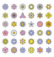 flower and floral logo icon isolated editable vector image