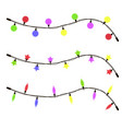 Glowing christmas garland candles
