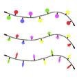 glowing christmas garland candles vector image vector image