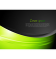 Green and black wavy background vector image vector image