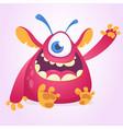 happy cartoon monster mascot vector image vector image