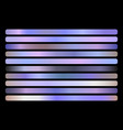 holographic gradient set shiny vector image vector image