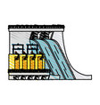 hydroelectric vector image vector image