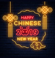 illuminated neon signs chinese holiday vector image vector image