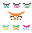 images fox wearing glasses vector image vector image