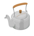 kettle metal icon isometric 3d style vector image vector image