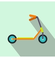 Kick scooter flat icon vector image