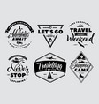 labels set adventure and nature explore vector image